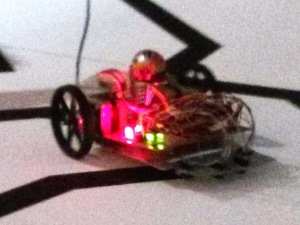 Robot following a line, from the 2013 EECE robot races