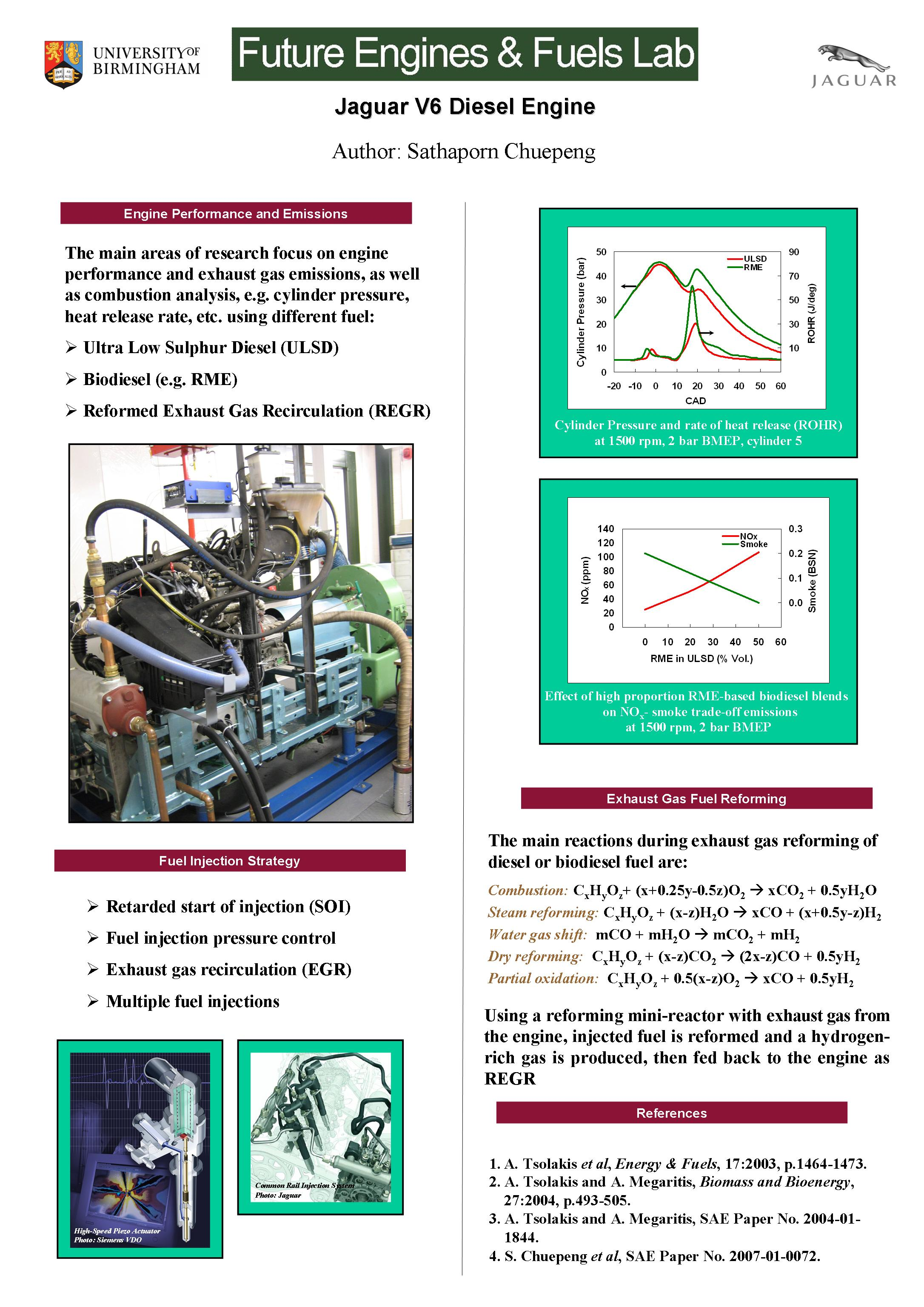 research papers on diesel engines In 1895, rudolf diesel invented the diesel engine and used biodiesel made from peanut oil to fuel the engine (emery 44) biodeisel is made from domestic, renewable vegetable products like soybean oil and recycled cooking grease (emery 44).