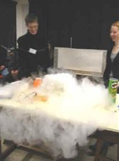 Dry ice display