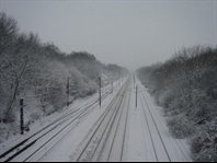 Effect of snow and extreme weather events on railway infrastructure.