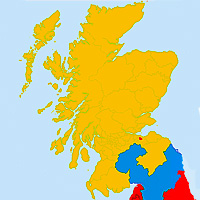 Scotland Election map 2015