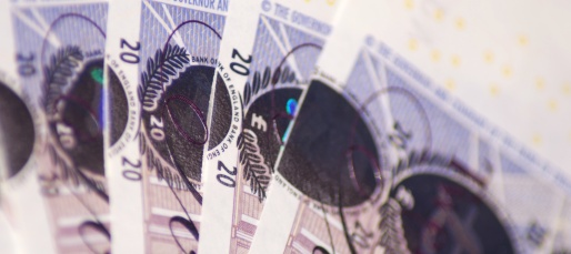A banner image with a fanned-out set of twenty pound notes