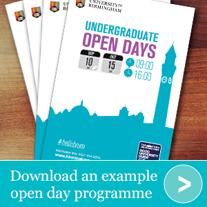 Download an example open day programme