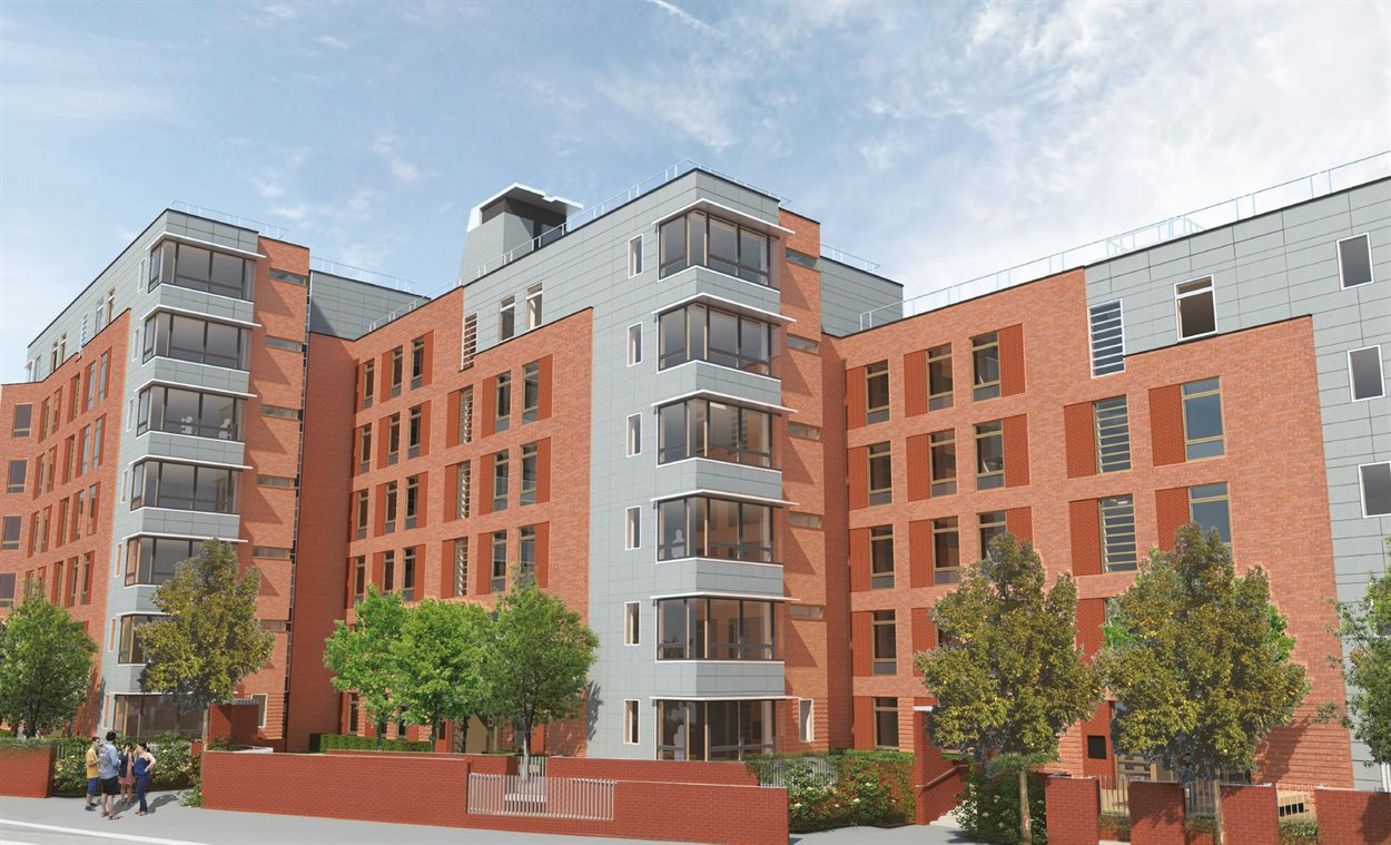 Artists impression of the Grange Road residences