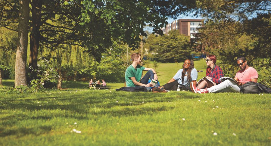 Students at the Vale Village