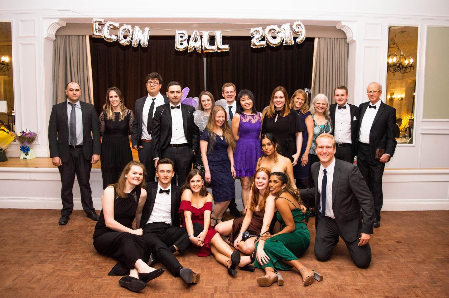 Students at the Economics Ball, 2019