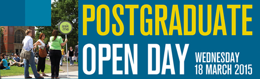 Postgraduate Open Day banner
