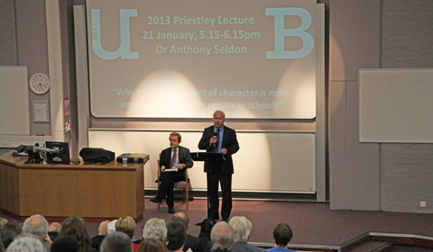 Professor James Arthur introduces Dr Anthony Seldon