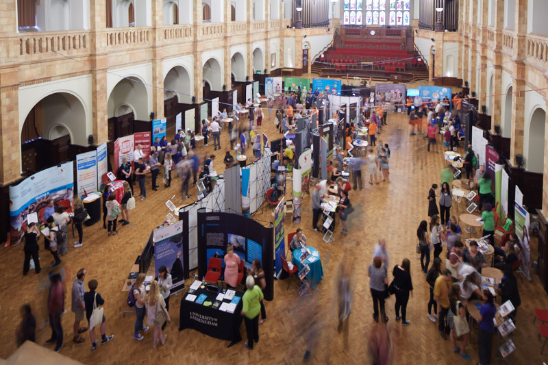 Careers Fair in the Great Hall at the University of Birmingham