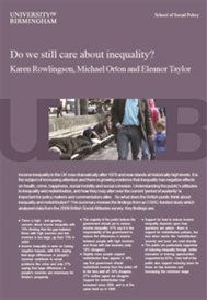Do we still care about inequality? Report cover