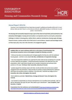 HCRG Annual Report 2016