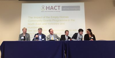Panel discussion at the community-led housing event in Hull