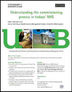 Understanding the commissioning process in todays' NHS