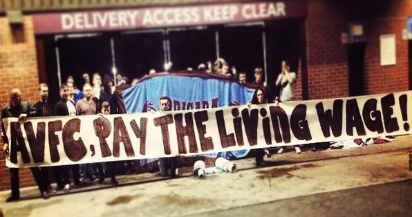 Aston Villa FC - Campaigning for the Living Wage