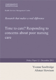Time to care? Responding to concerns about poor nursing care - Policy Paper 12
