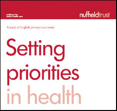 Setting Priorities in Health publication