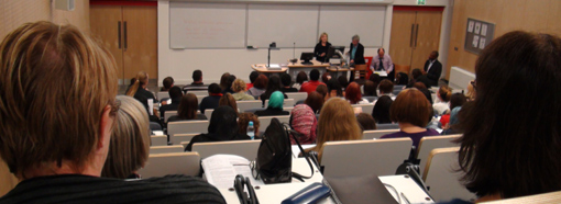 Social Work students in lecture theatre