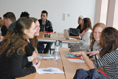 Social work students in seminar discussion, Rotterdam