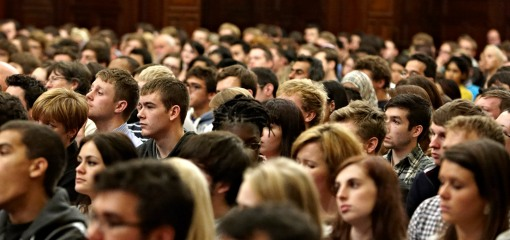 Students attending the recent miliband event
