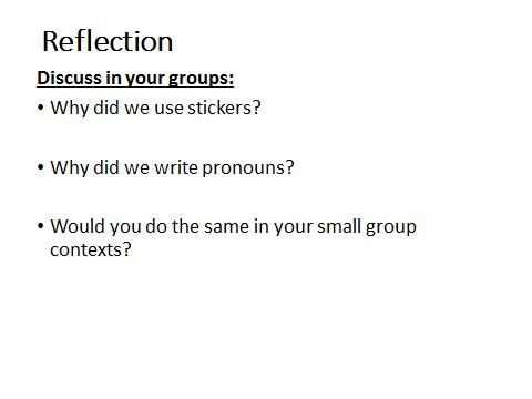 Pronoun Reflection