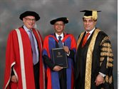 Ajit Seth recieves an honorary degree