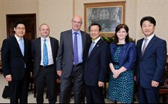 Ambassador Choo Kyu Ho and Embassy representatives at the University of Birmingham