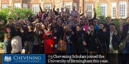 2016 Chevening Scholars Photo