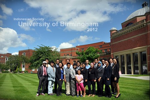 Indonesia Society 2012 Group Photo outside Aston Webb
