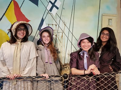 BISS students dressed up at the SS Great Britain in Bristol