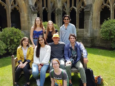 BISS students in the courtyard of New College, Oxford