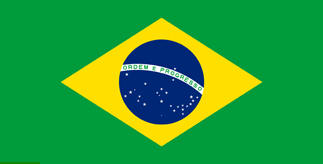 The national flag of Brazil