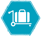 Image of luggage on a trolley