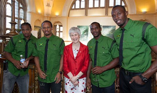 Jamaican Track and Field Team thank University after ...
