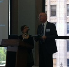 Picture of Michael Dobson and Marilyn Halperin at the Symposium