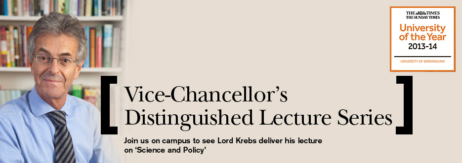 Lord Krebs - 'Science and Policy'