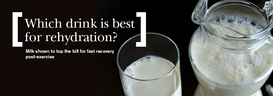 Post workout rehydration: which drink fares the best?