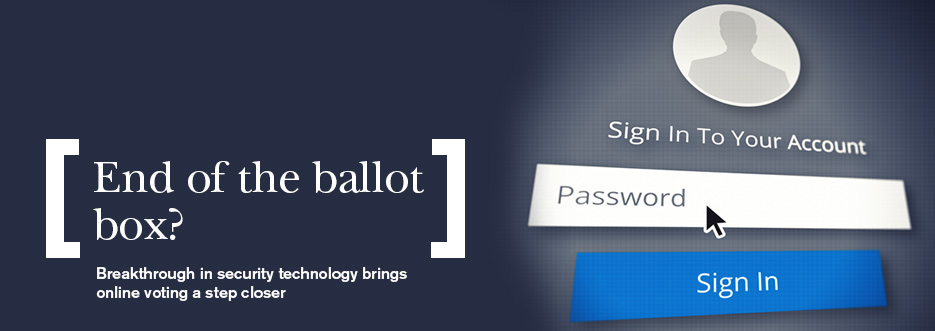 Online voting a step closer thanks to breakthrough in security technology
