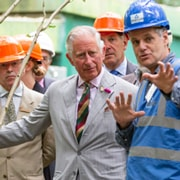 The Prince of Wales visits the BIFoR facility