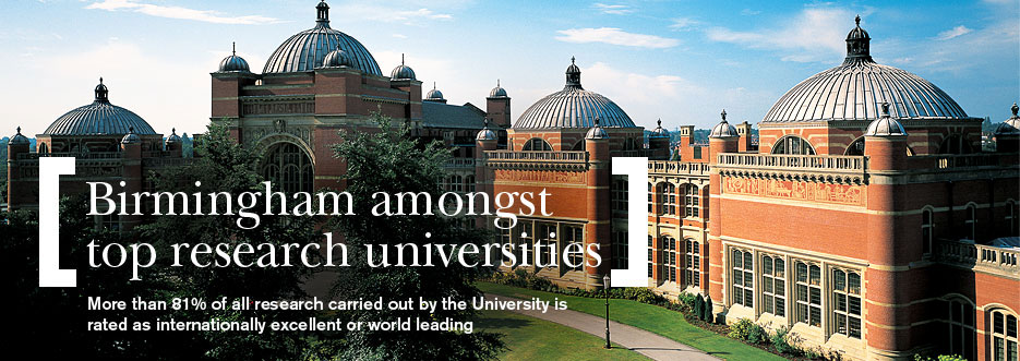 REF confirms Birmingham's position amongst top research universities