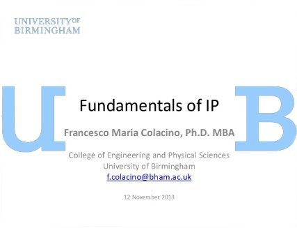 Fundamentals of IP