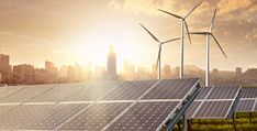 Montage of renewable technologies