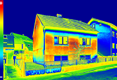 Thermal image scan of a house