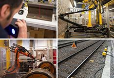 Montage of rail condition monitoring activities
