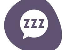 Speech bubble with Z's