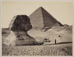 'The Sphinx, the Great Pyramid and two lesser Pyramids, Ghizeh, Egypt' (credit Francis Bedford, 1862). Royal Collection Trust / © Her Majesty Queen Elizabeth II 2020