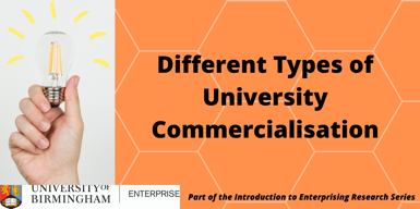 Different Types of University Commercialisation