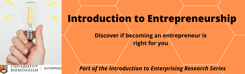 Introduction to Entrepreneurship-banner