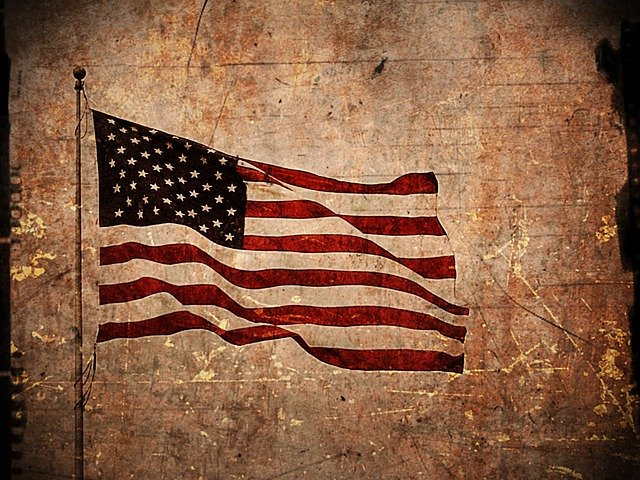 american flag inside.'