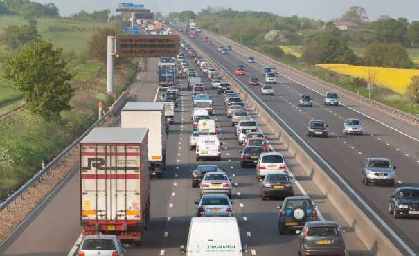 Gridlocked UK motorway