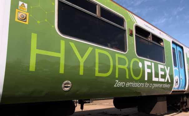 Exterior of HydroFlex train
